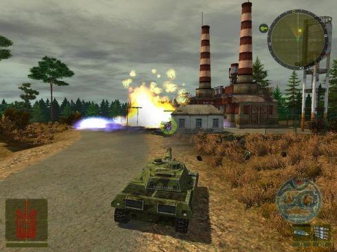 Все горит, а за домиком намертво застрял вражеский танк. Багопользование — ключ к жизни.