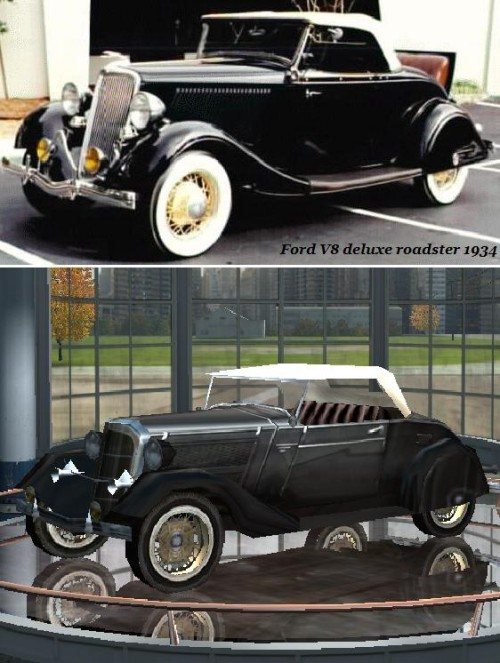 Ford V8 deluxe roadster 1934