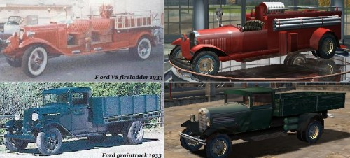 Ford V8 fireladder 1933 & Ford graintrack 1933