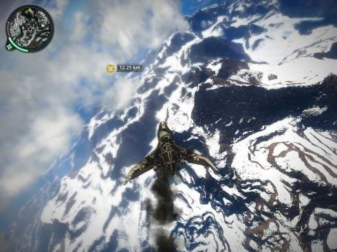 Красотища внизу — не декорация. Мы в любую секунду можем выпрыгнуть из самолета и приземлиться в горах.