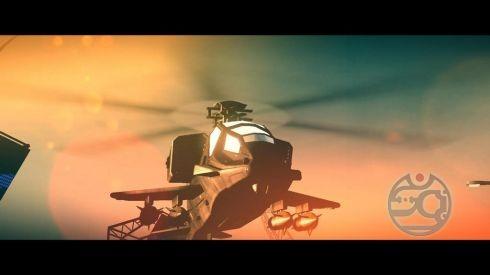 Это наш дружище вертолет. Он злой и стреляет ракетами.